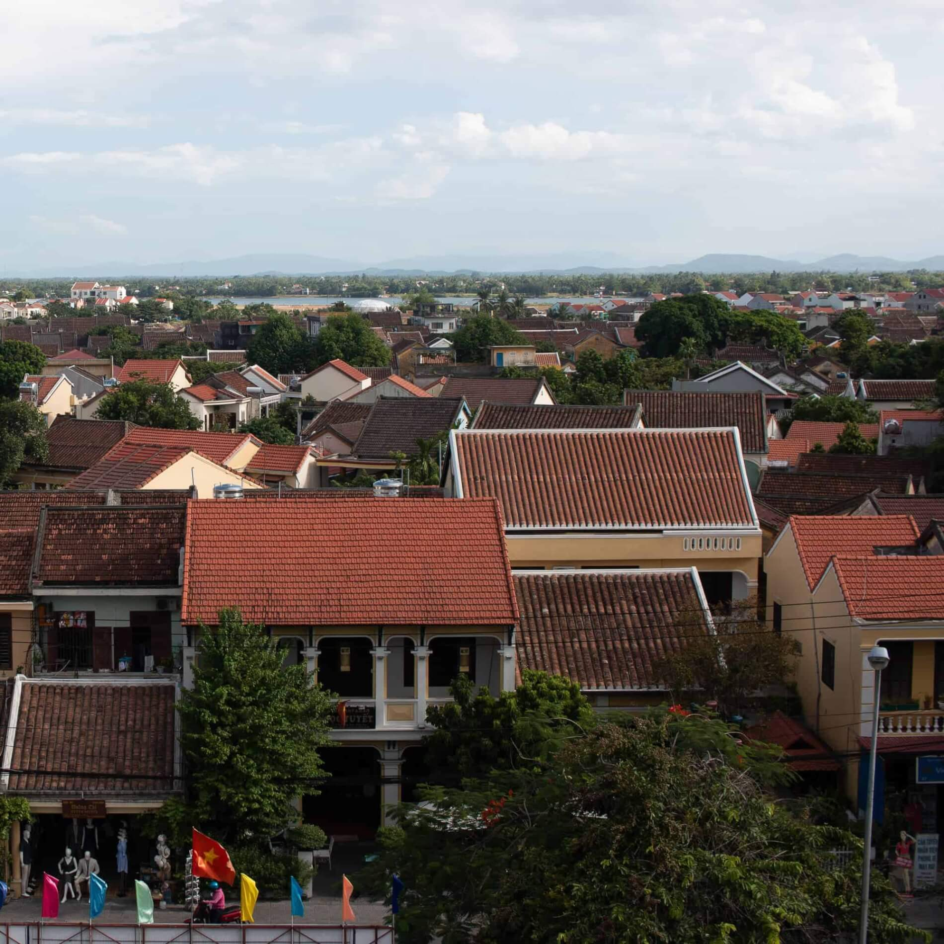 Hoi An rooftops from one of the Hoi An museums
