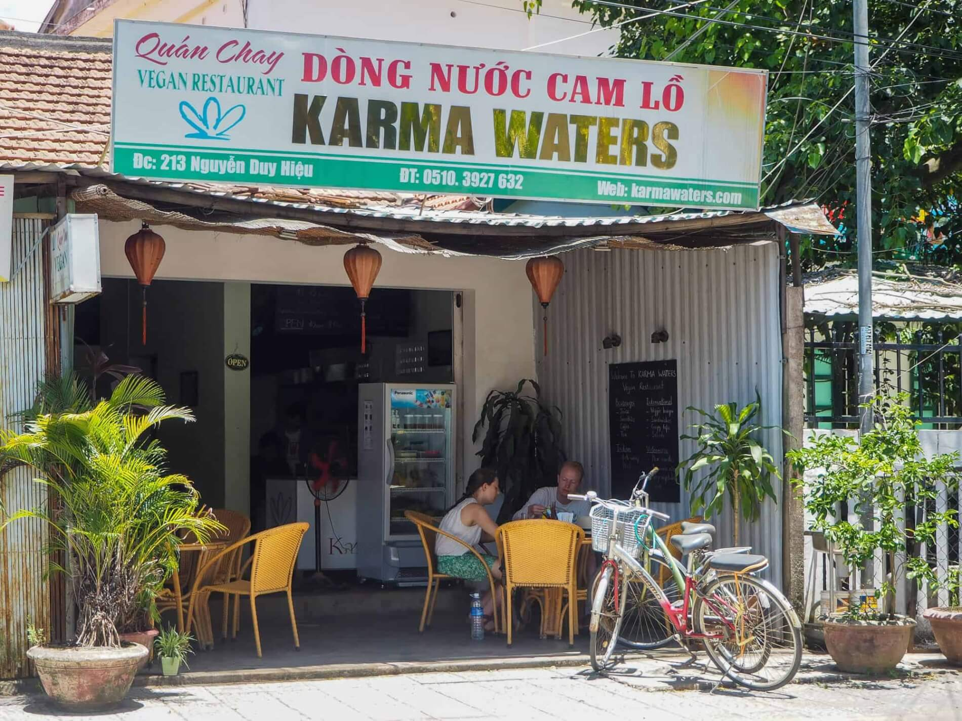 Karma Waters offers vegetarian and vegan options