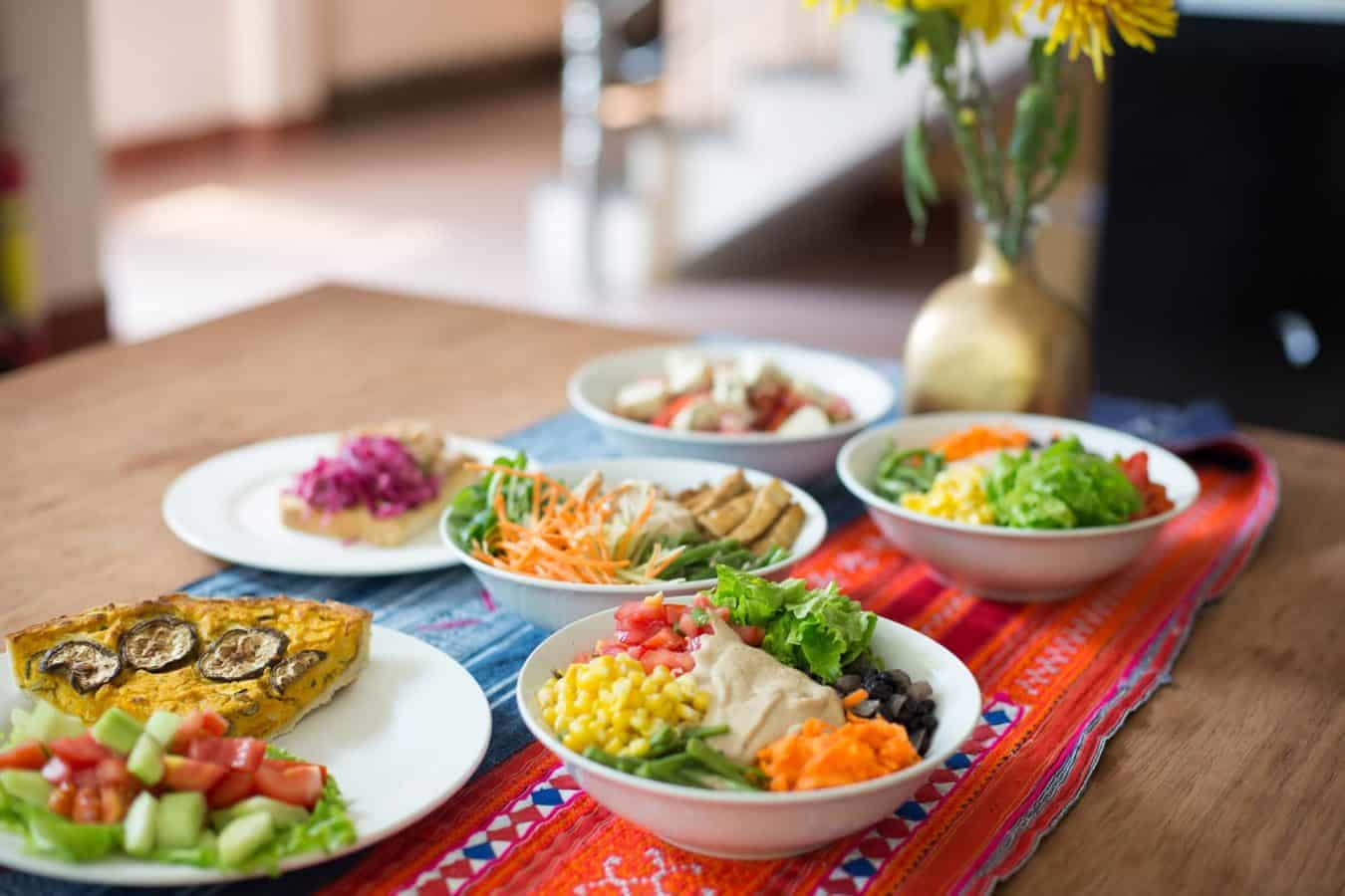 Nomad Yoga offers vegetarian options