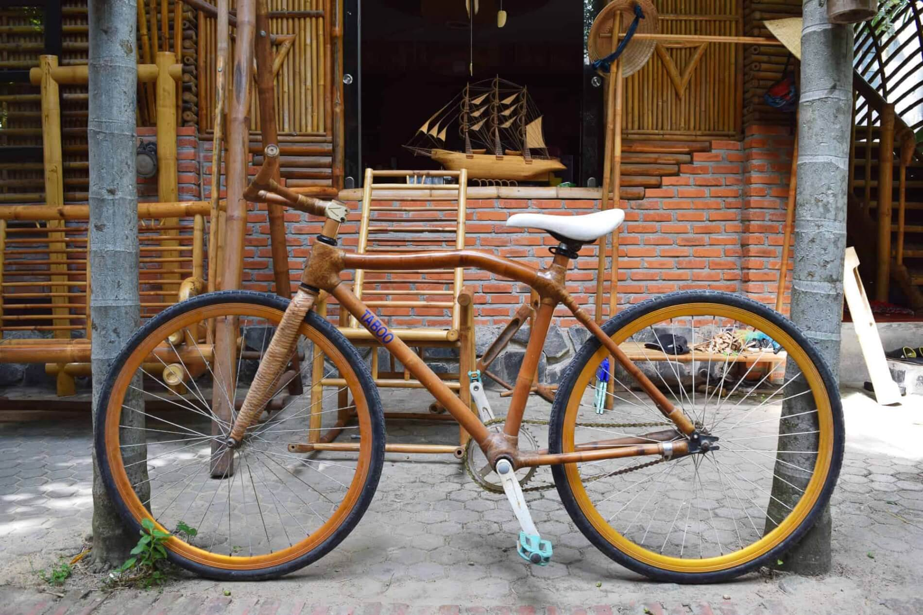 Taboo Bamboo - lantern making - bicycle