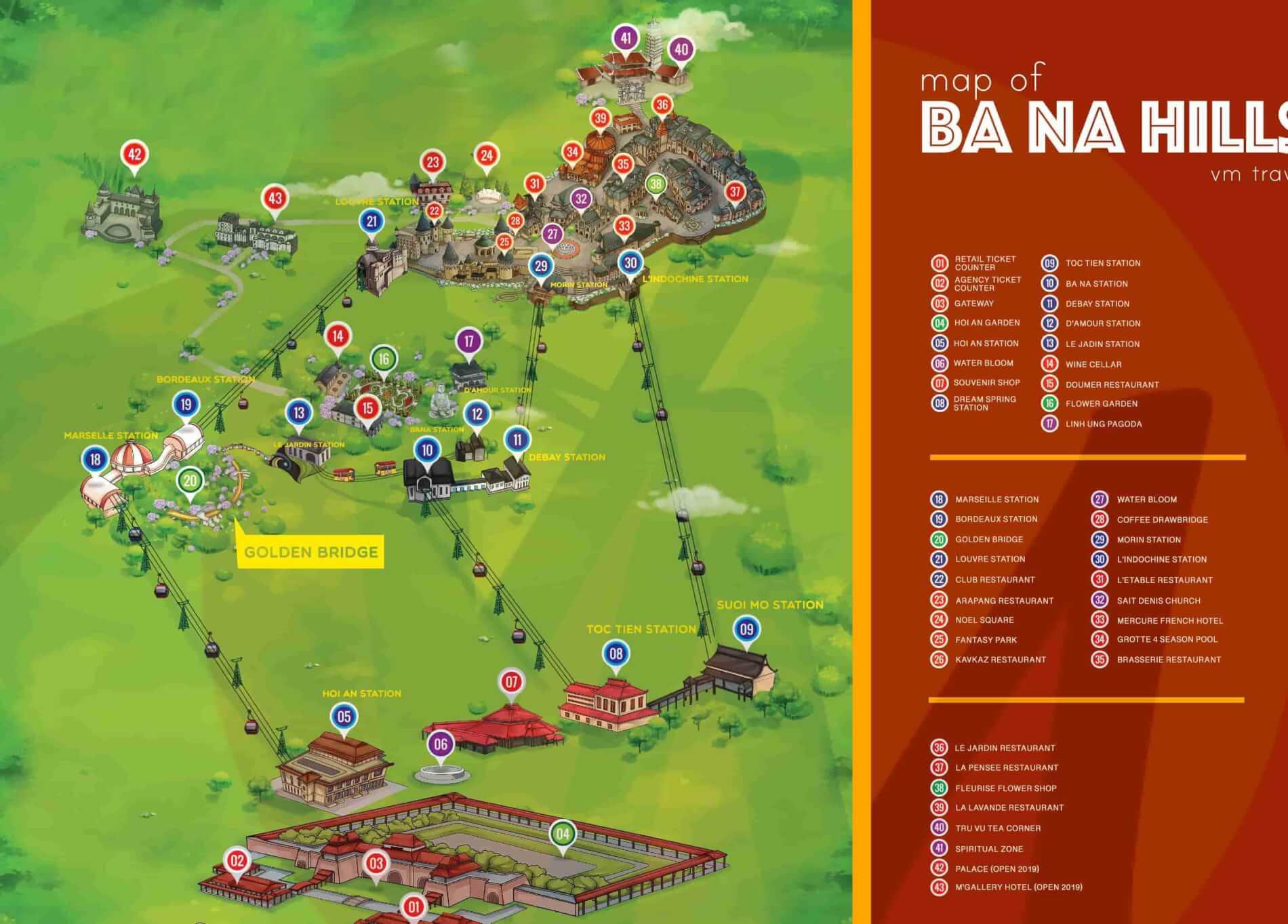 Map of Ba Na Hills