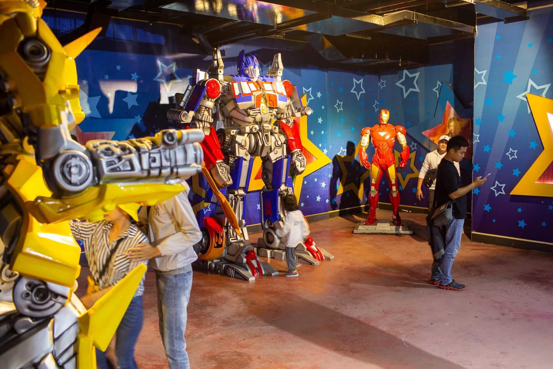 Wax museum transformers
