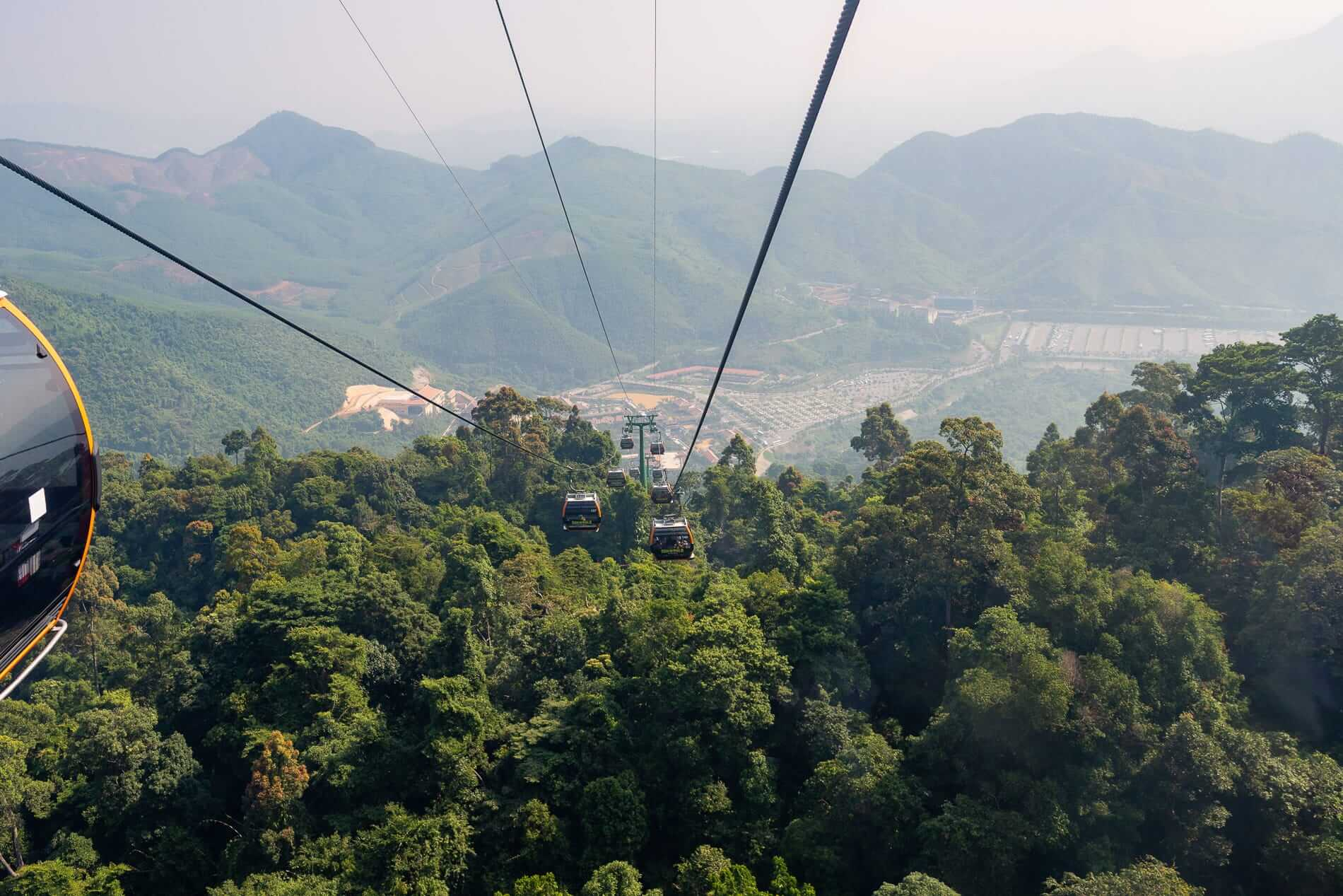 mountain view from the cable car