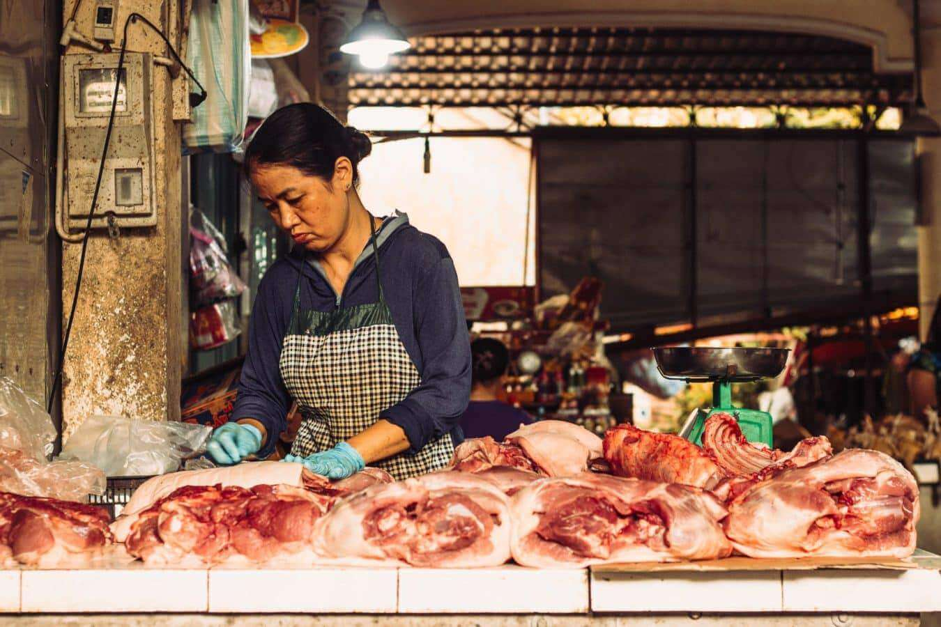 butchers section - Hoi An's markets