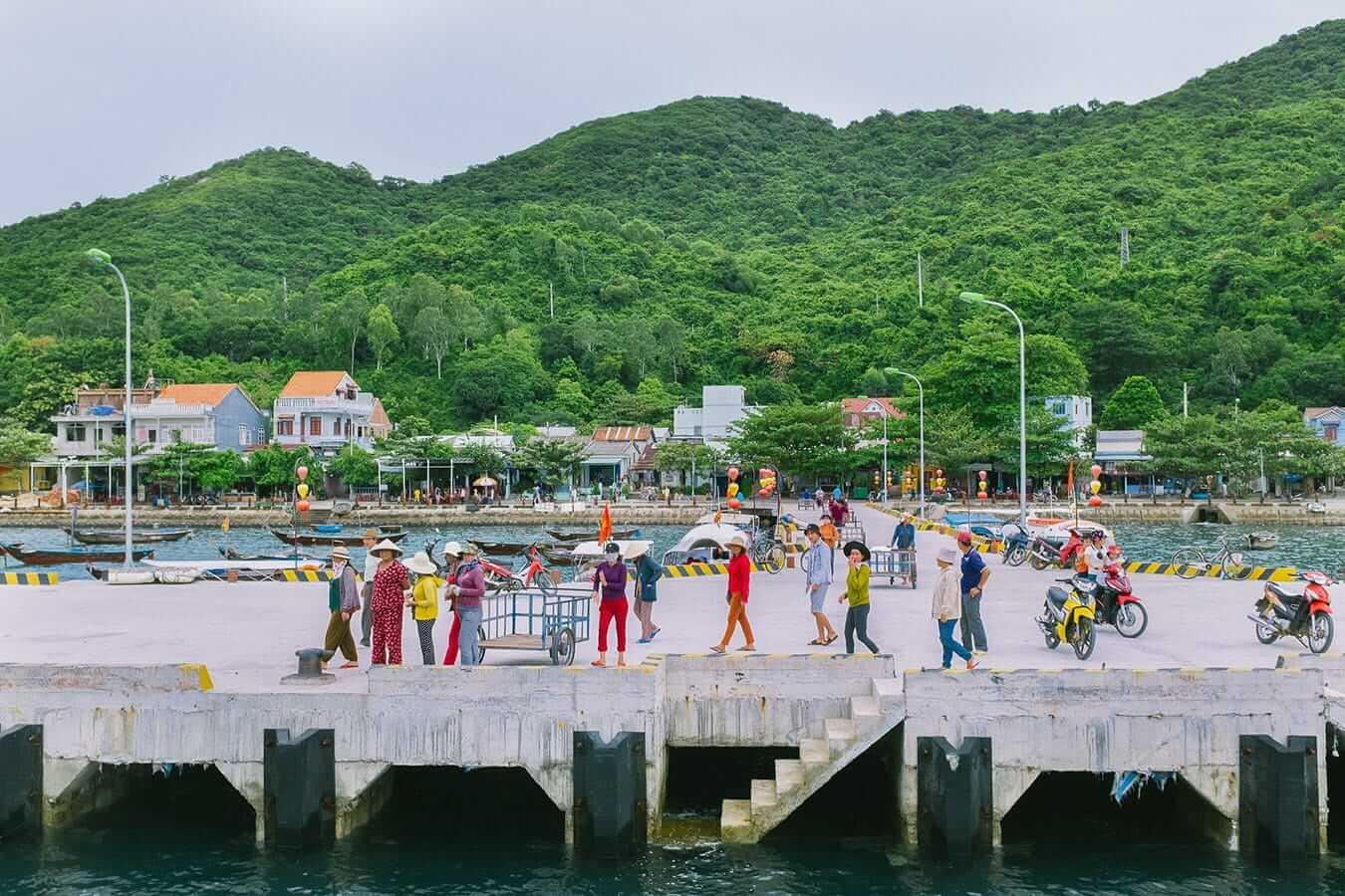 Cham Islands pier