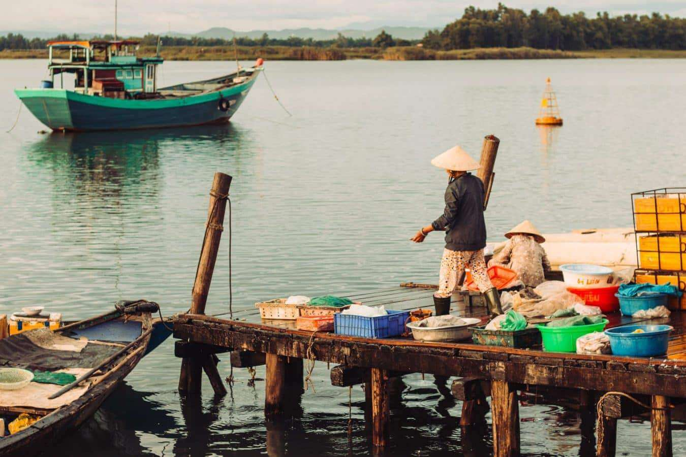 landing dock - Hoi An's markets