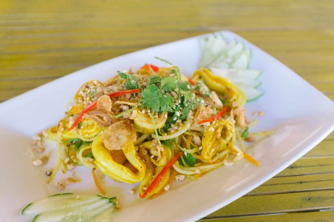 Shredded papaya salad made at Hoi An Cooking School