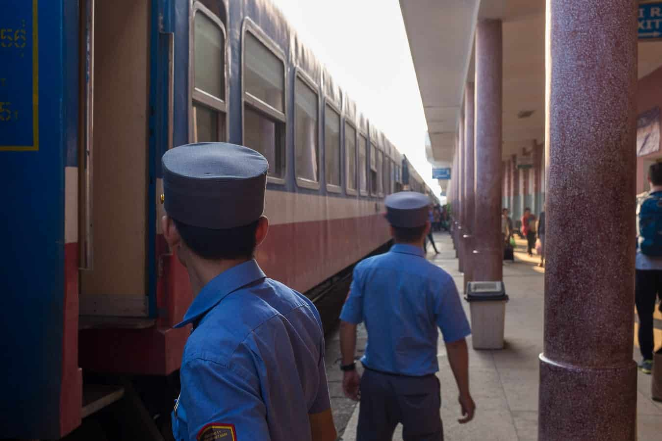 Train guards - Hoi An to Hue