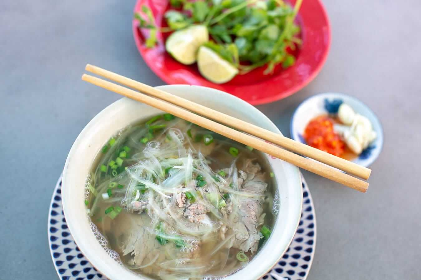 A bowl of Pho: Vietnamese food