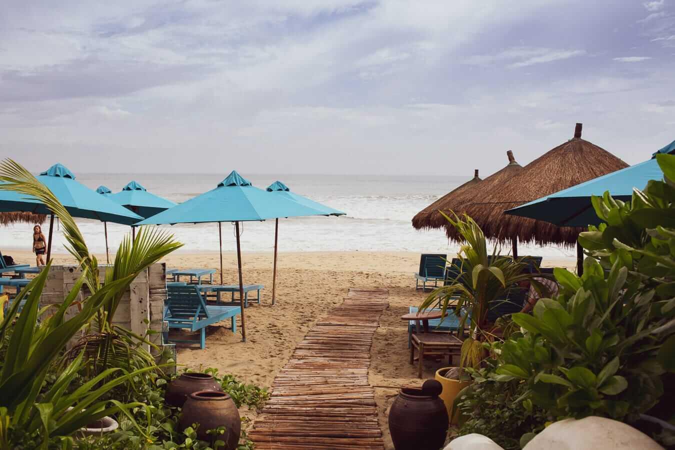 An Bang Beach loungers: Hoi An's beaches