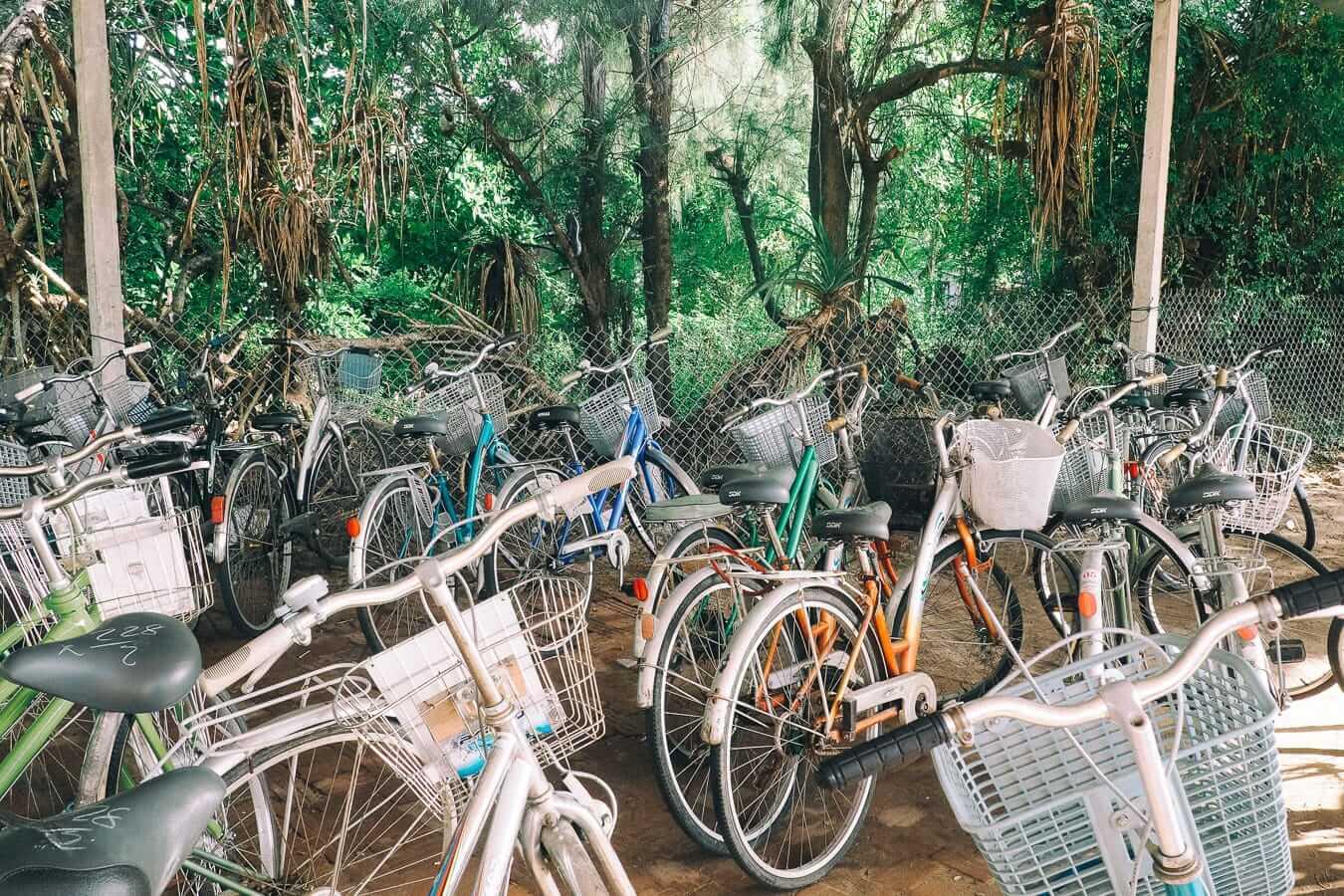 Bicycle parking at An Bang Beach