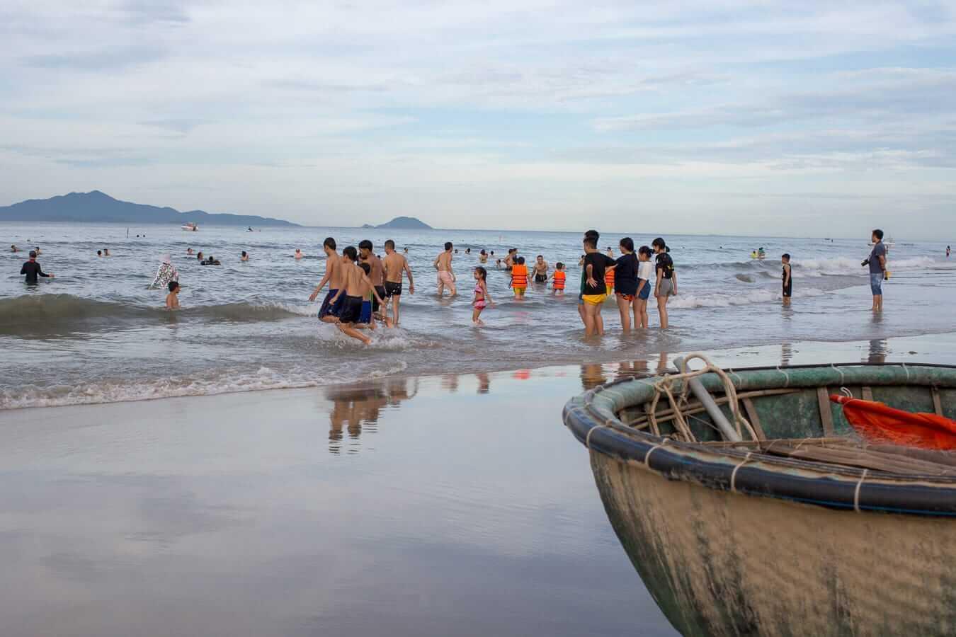 Calm sea at An Bang Beach