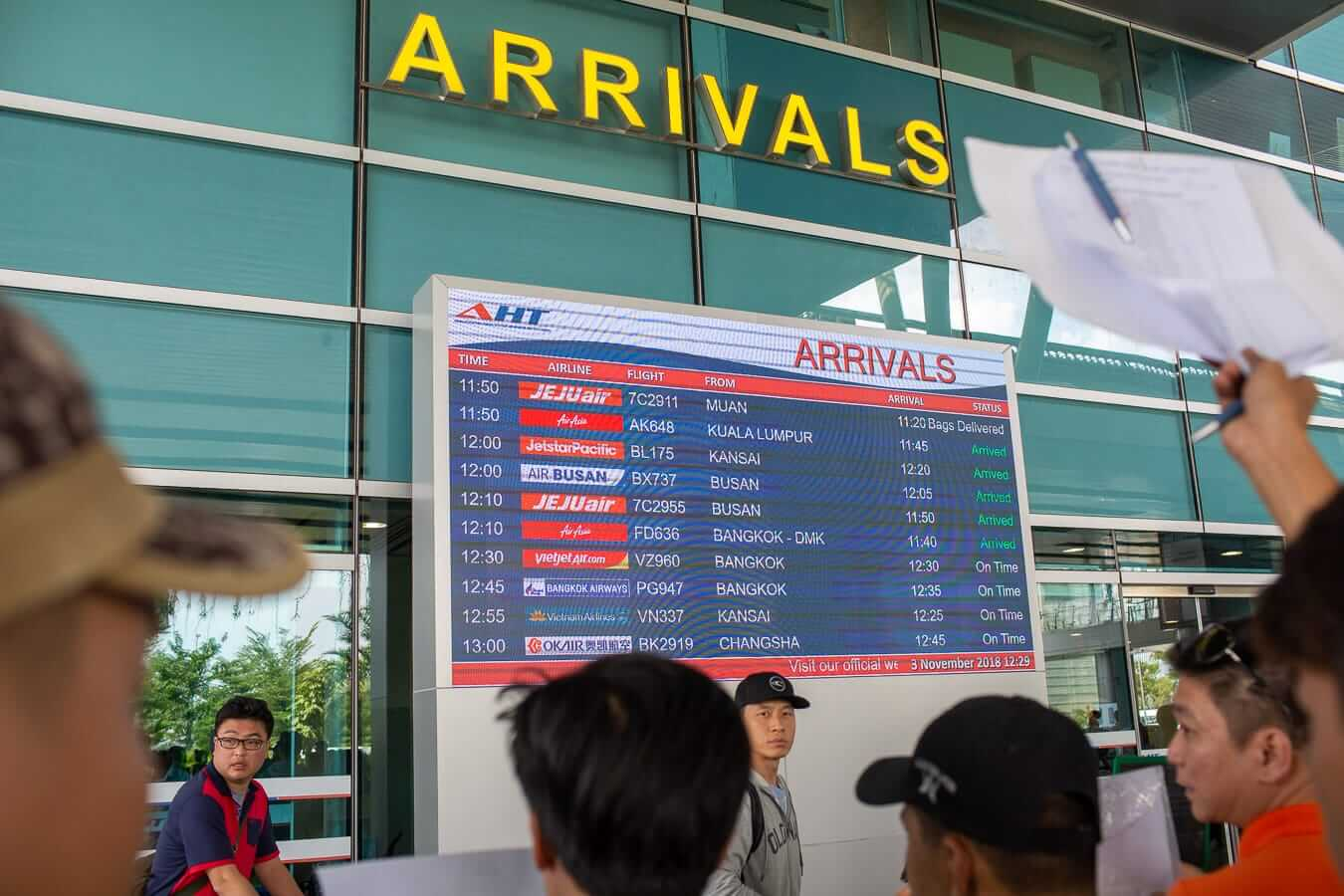 Danang Airport arrivals