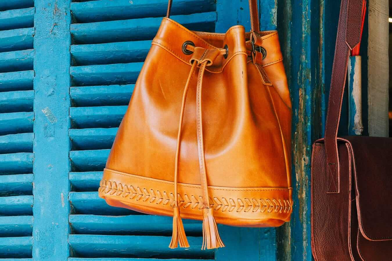 Leather bag for sale in Hoi An
