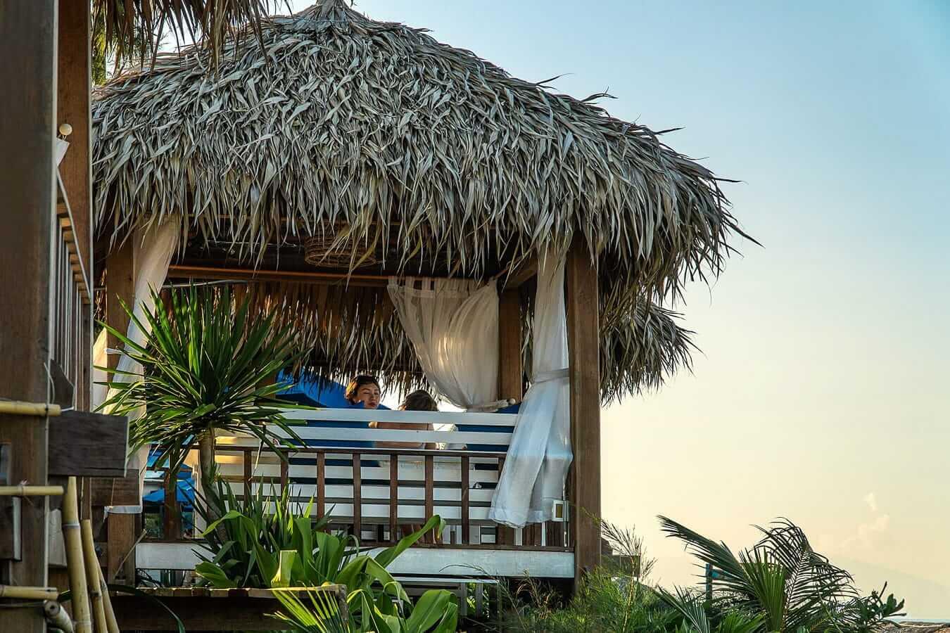 Private cabanas on An Bang Beach