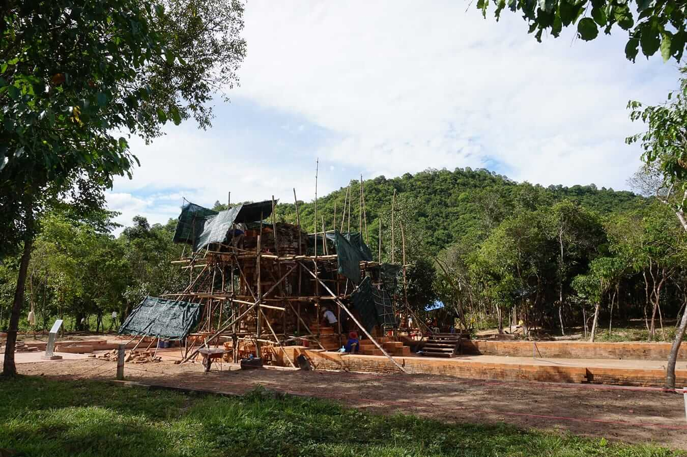 Renovation and reconstruction at My Son Sanctuary
