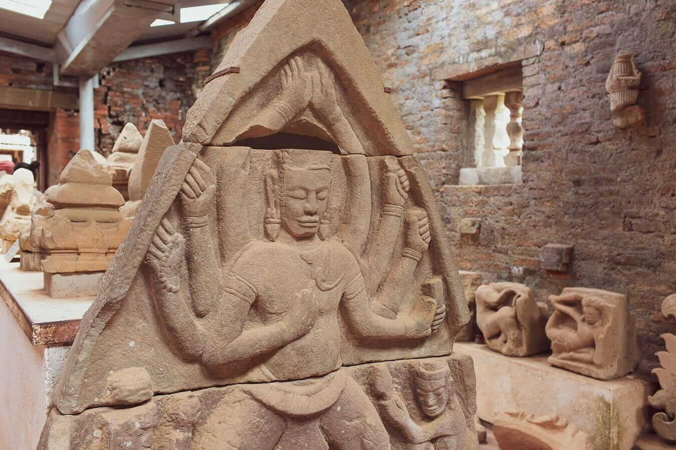 Stone carving at My Son Sanctuary