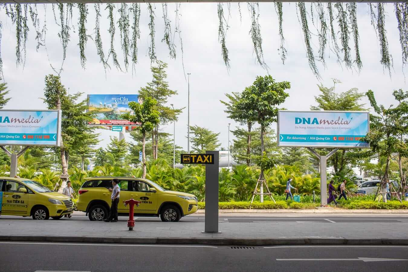 Taxi stand at the Da Nang airport