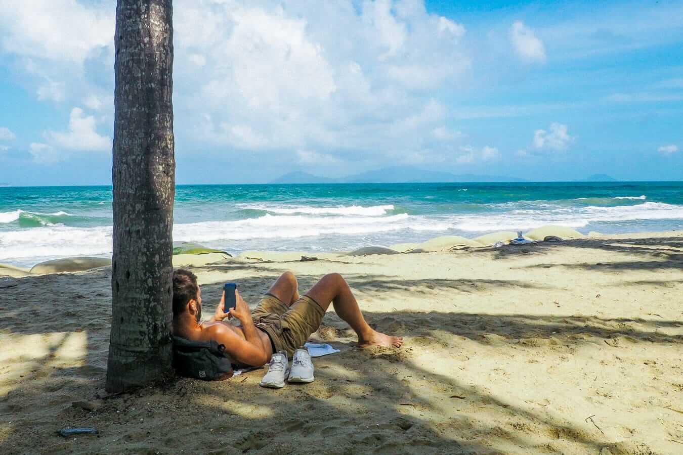 View of Cham Islands from Cua Dai Beach