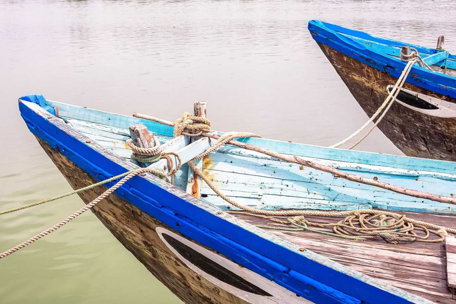 Hoi An painted boats