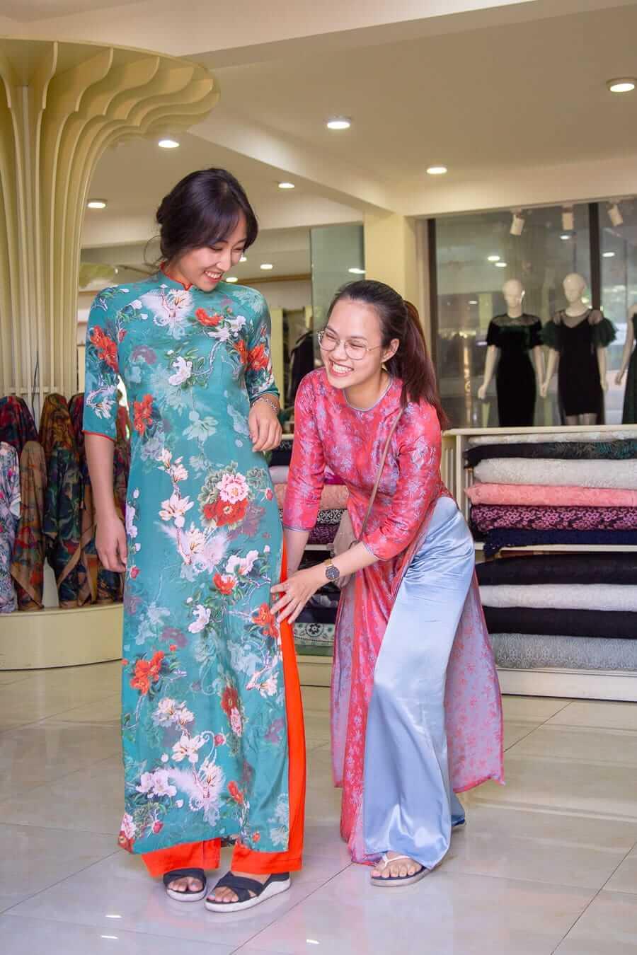 Ao Dai fitting at Bebe Tailor