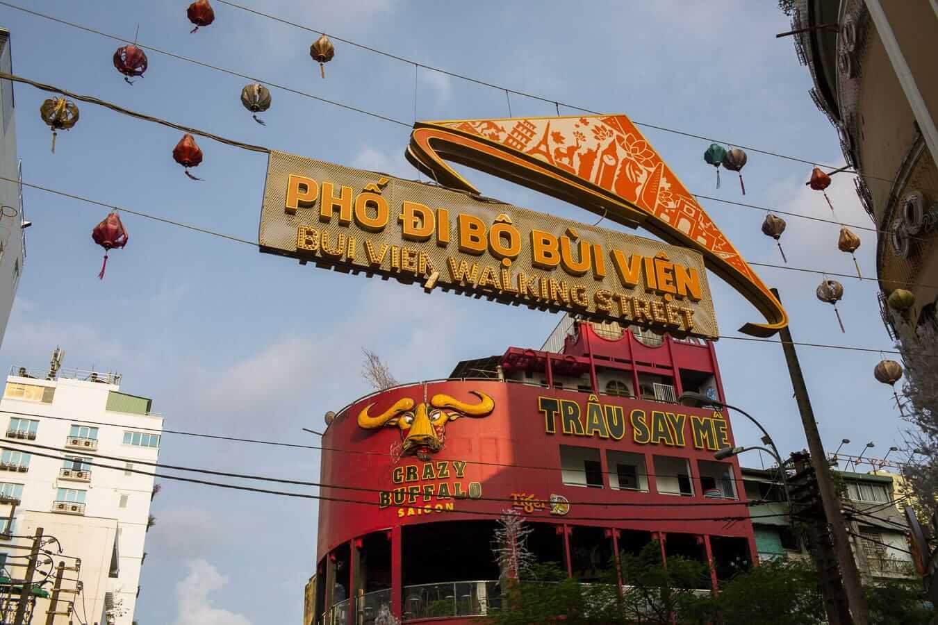 Bui Vien street: Ho Chi Minh to Hoi An