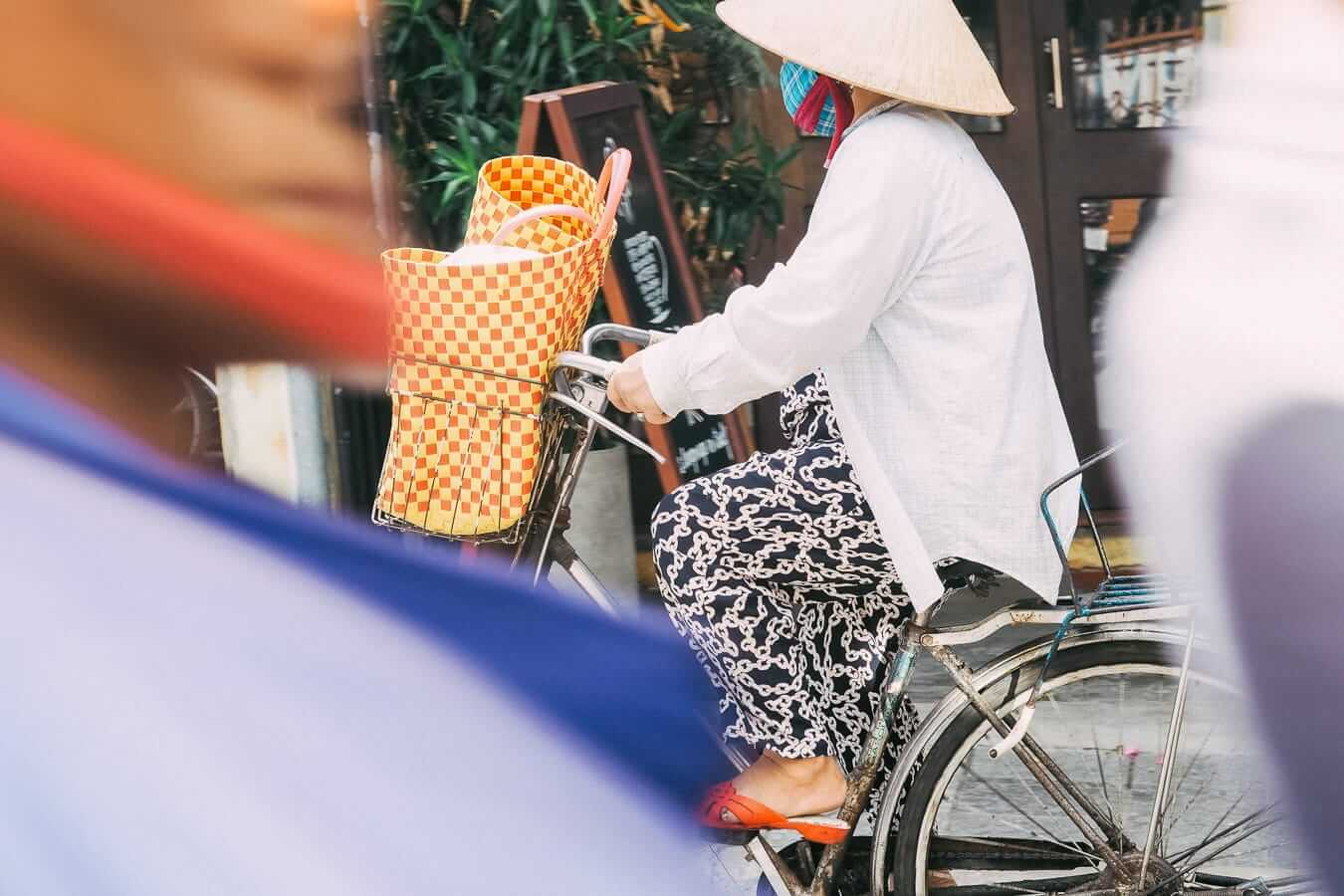 Cyclist in Hoi An: Hoi An cycling