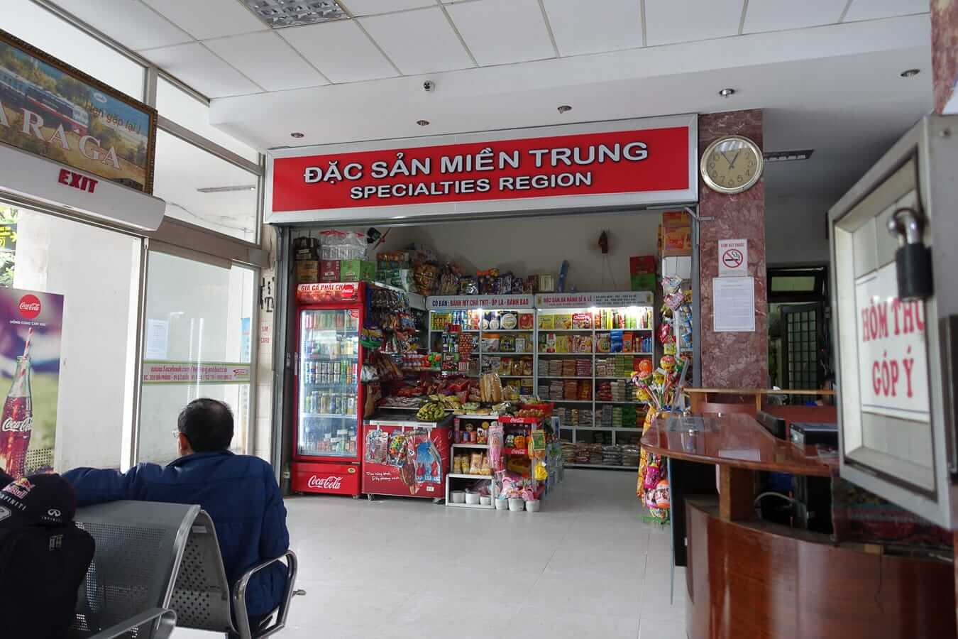 Da Nang Train Station snack stall