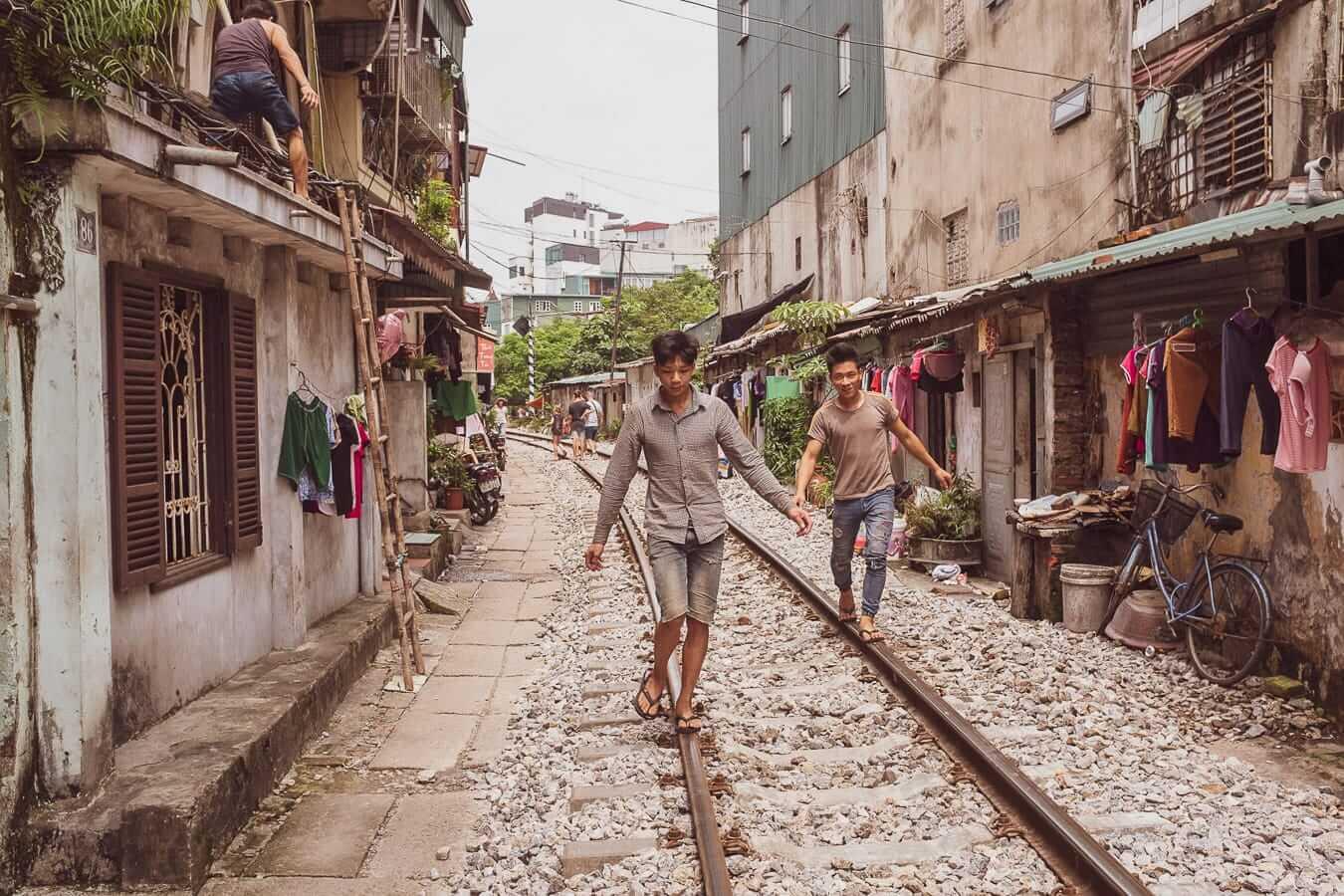 Hanoi's famous train street: Hanoi to Hoi An