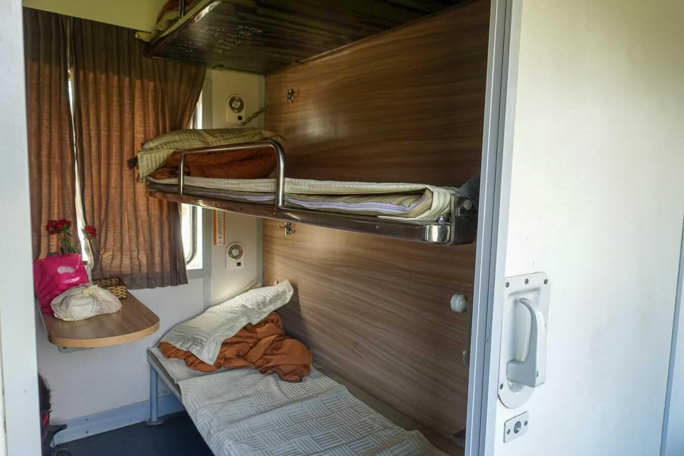 Hard Sleeper compartment: Hue to Da Nang
