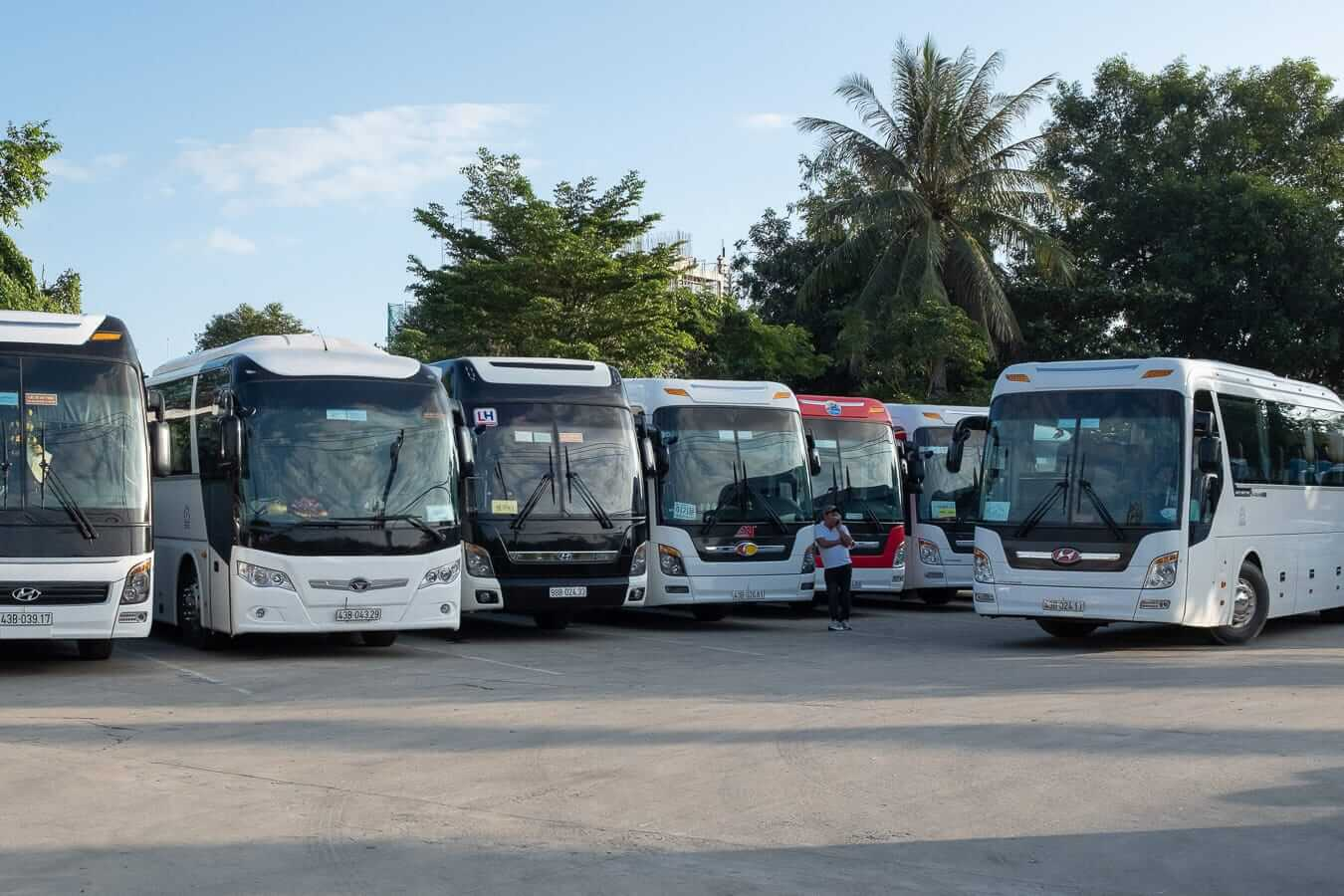 Busses in Hoi An