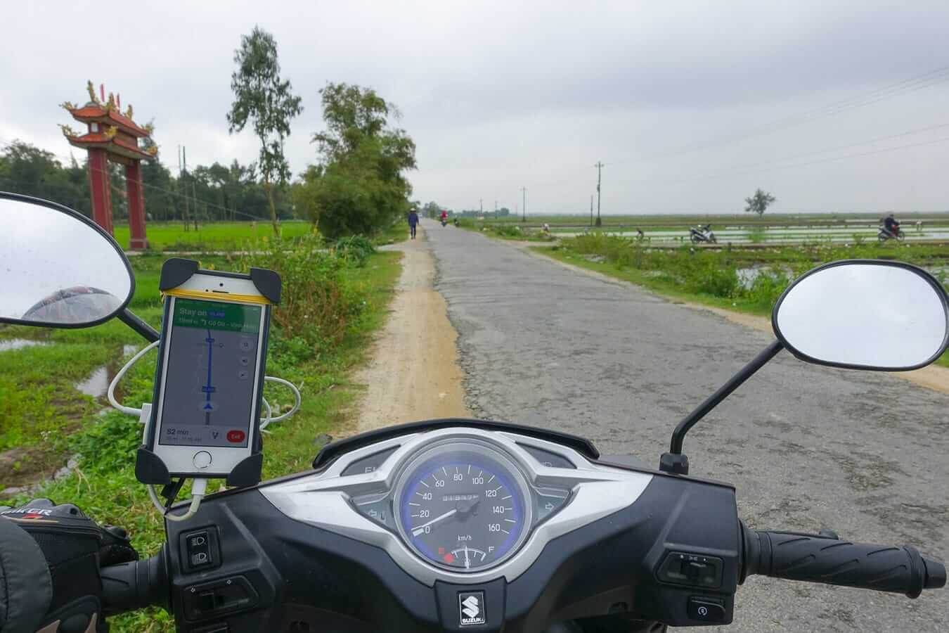 Hue to Hoi An by motorbike route