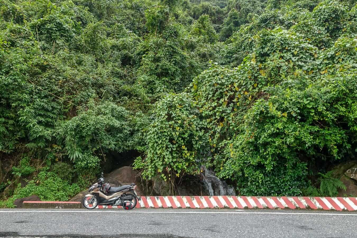 Safety rails of the Hai Van Pass: Hue to Hoi An by Motorbike