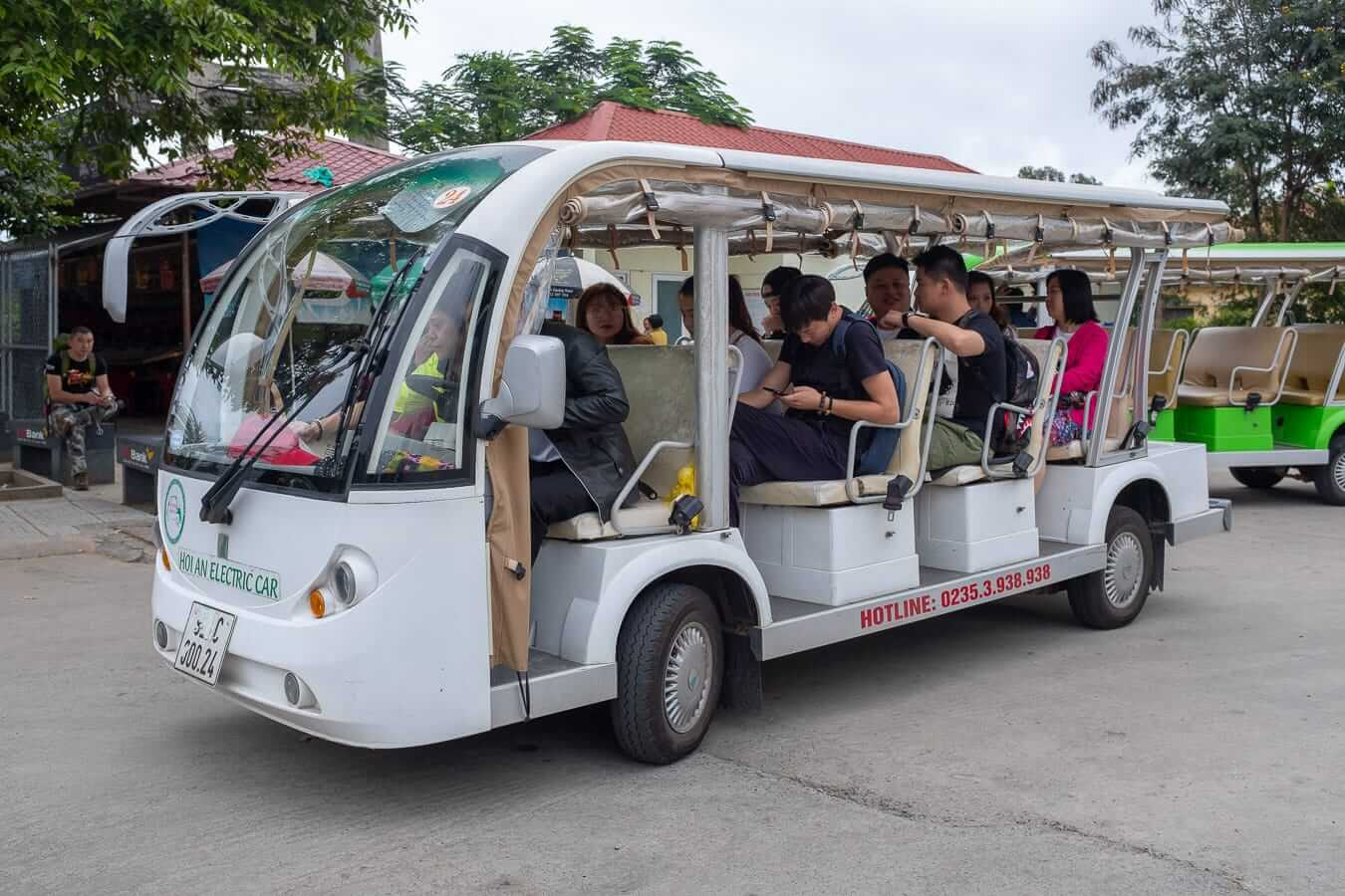 Shuttle at the Hoi An bus station