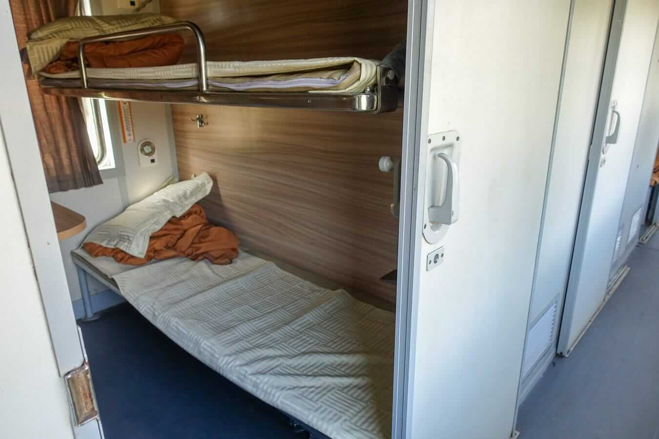 Soft sleeper cabin: Ho Chi Minh to Hoi An