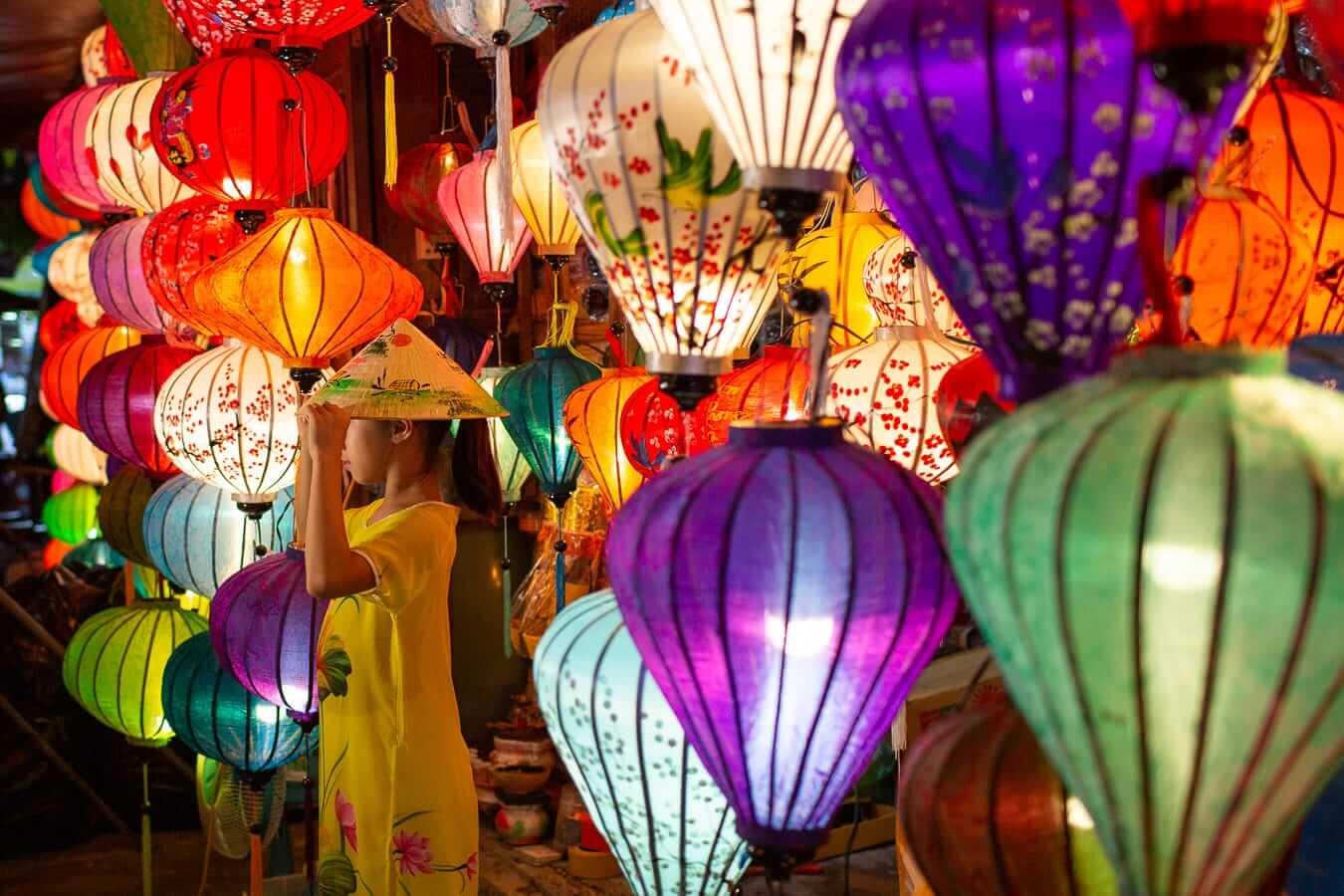 Hoi An Night Market lantern stall