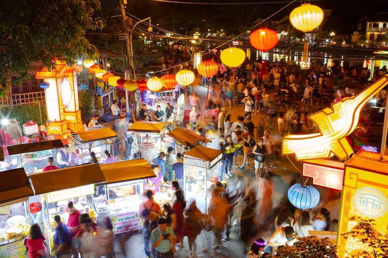 Madame Kieu Restaurant balcony at Hoi An Night Market