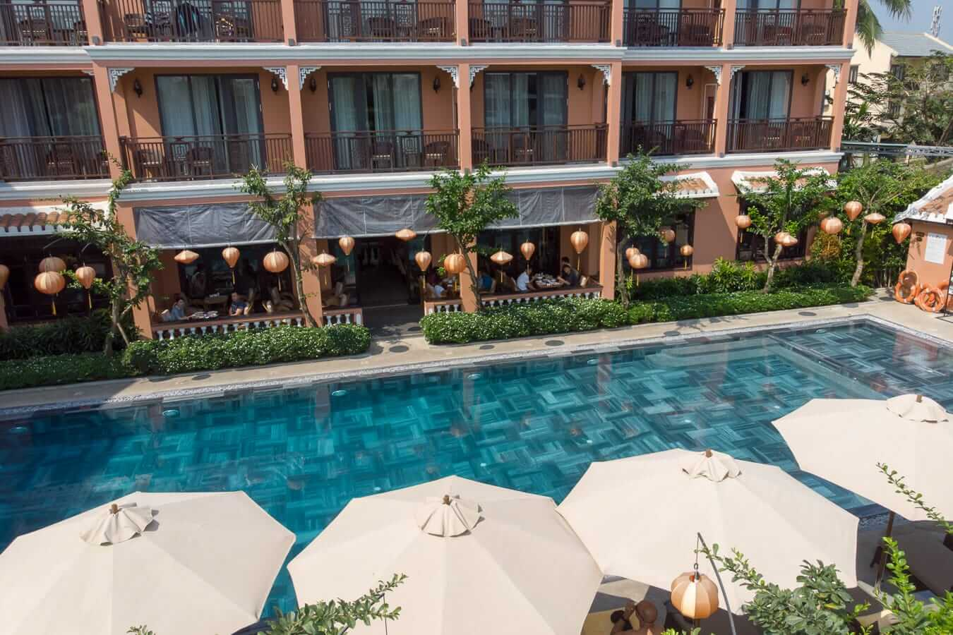 Allegro Hotel balconies: Pools in Hoi An