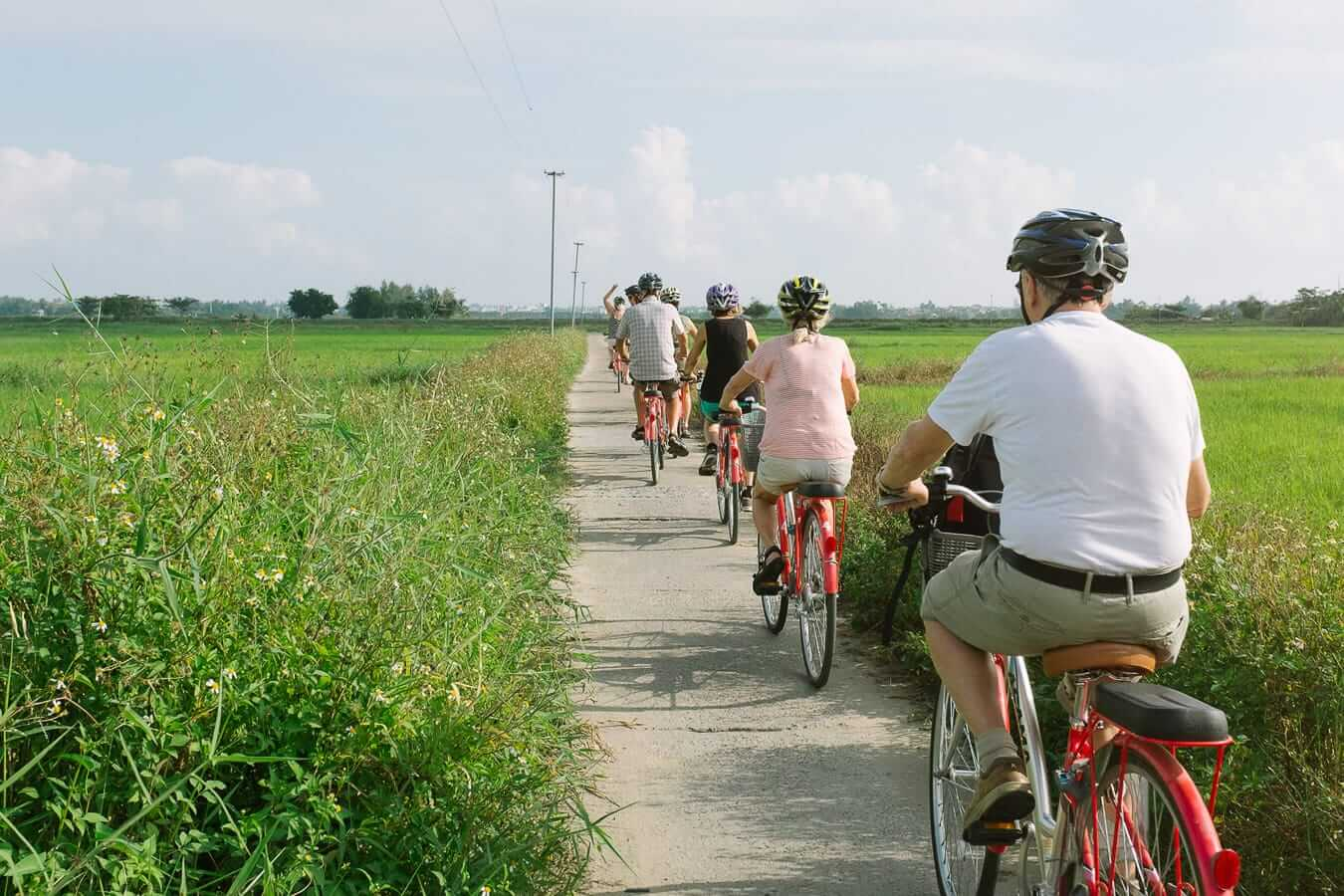 Group of cyclists who joined Hoi An Cycling Tours