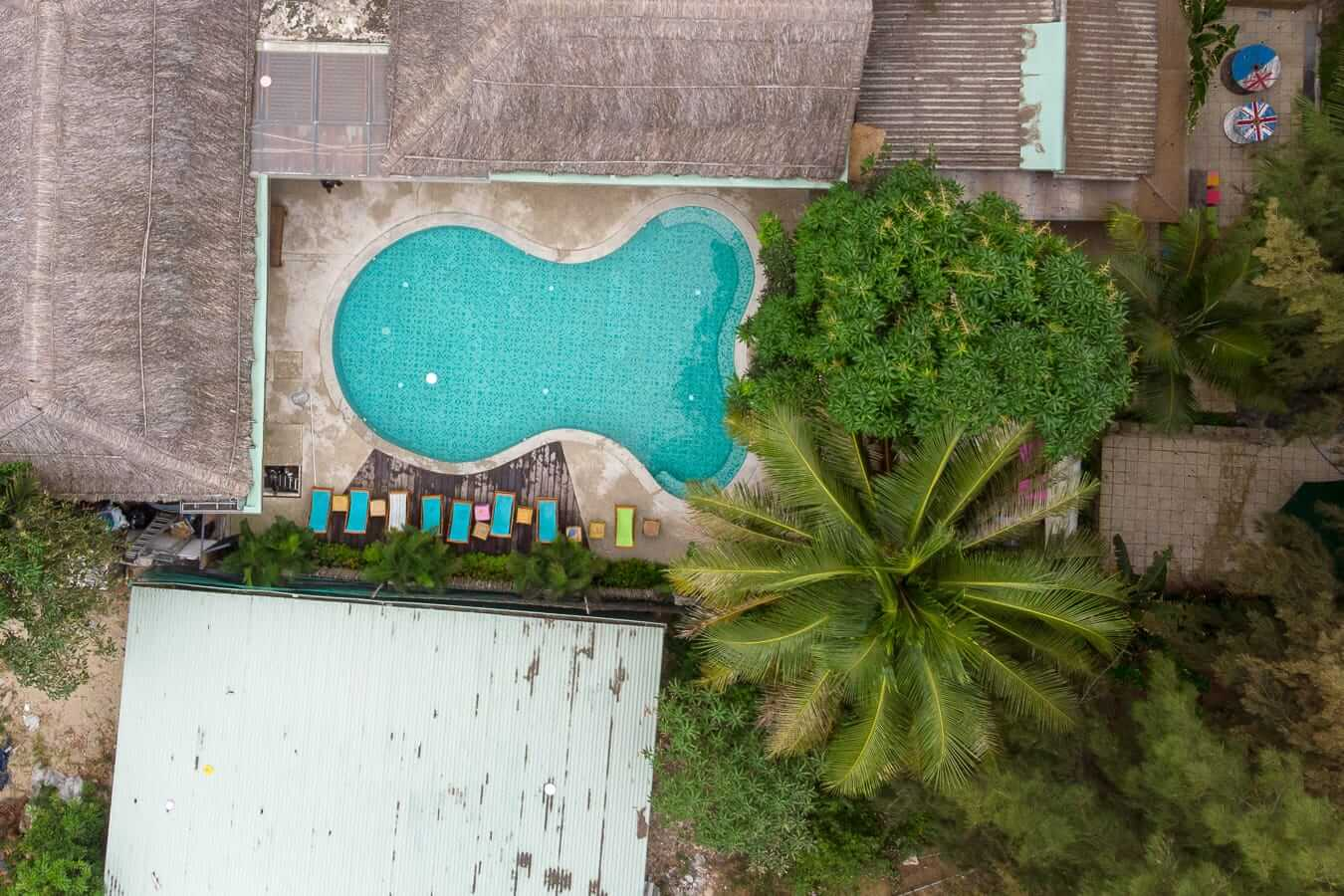 Kahuna's aerial: Pools in Hoi An