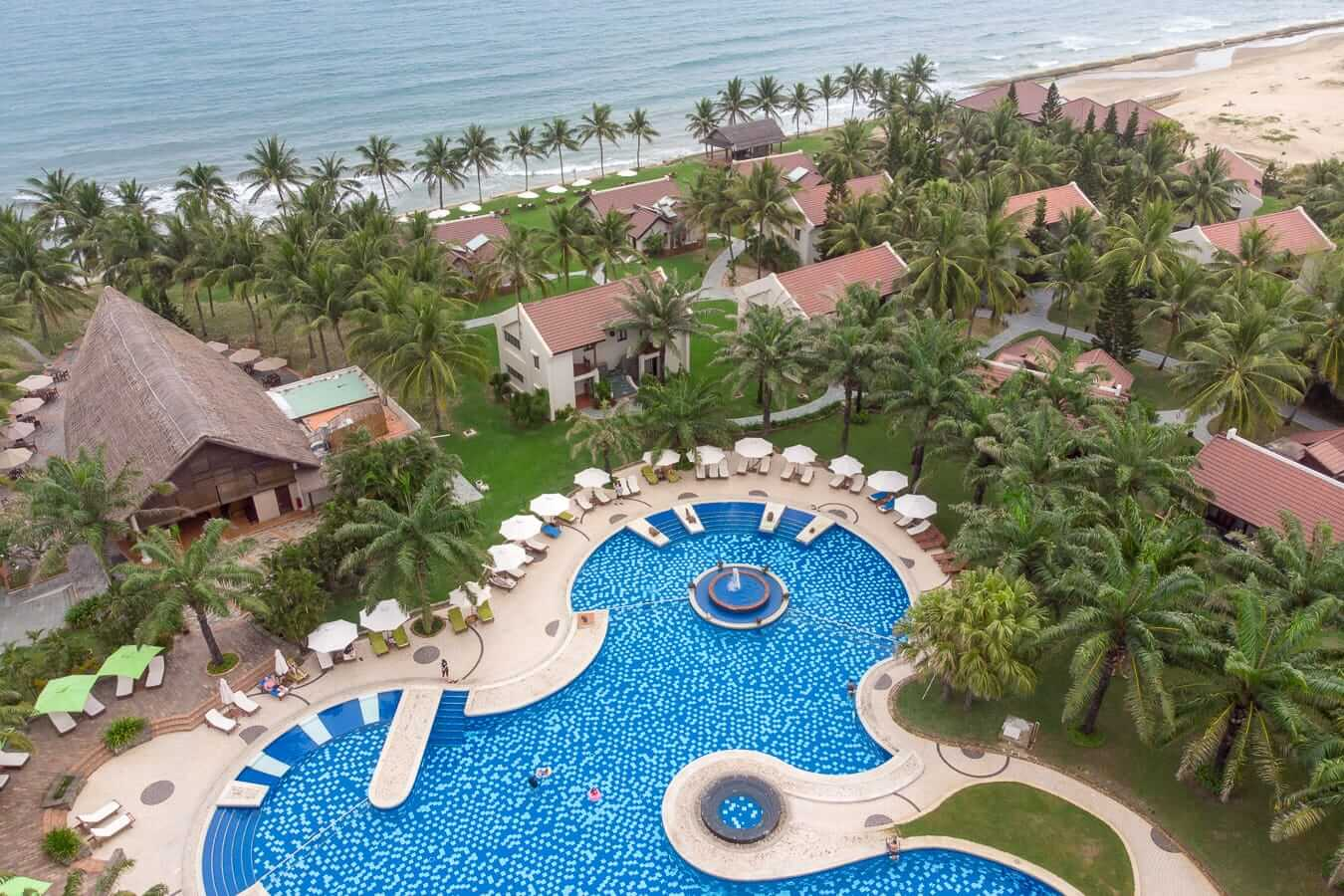Palm Garden Resort aerial: Pools in Hoi An