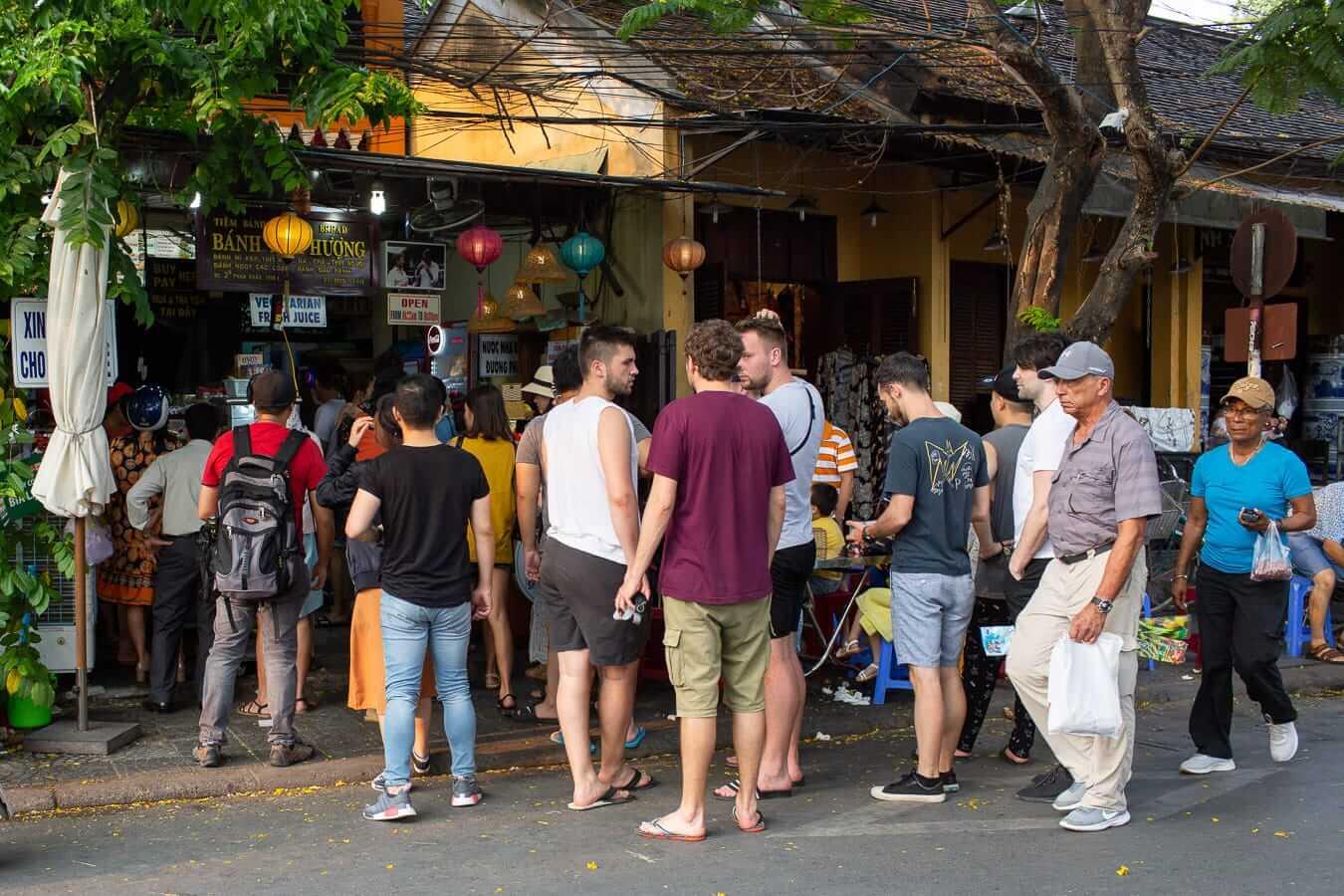 Queue at Banh Mi Phuong