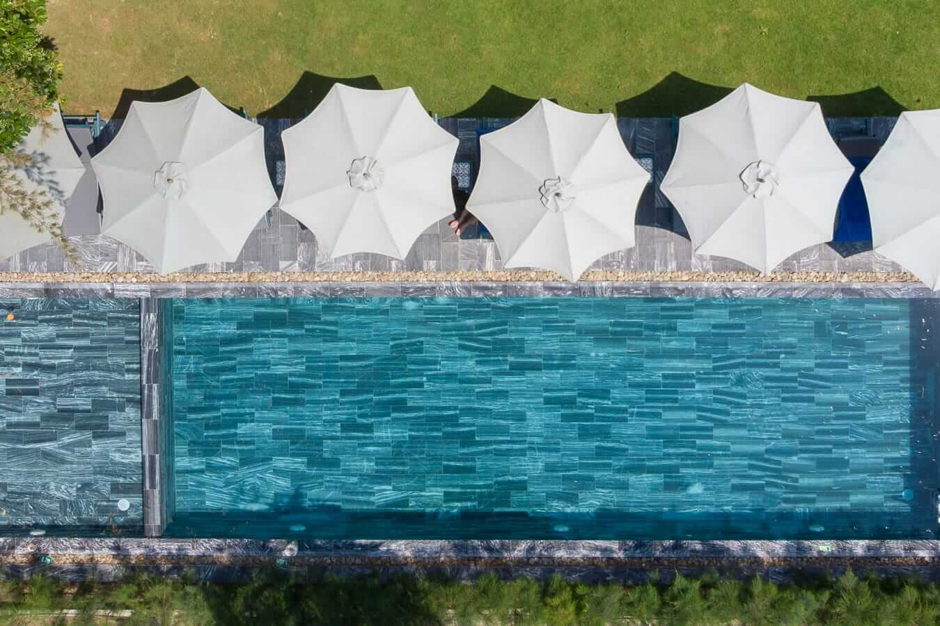 Sol Hotel aerial: Pools in Hoi An