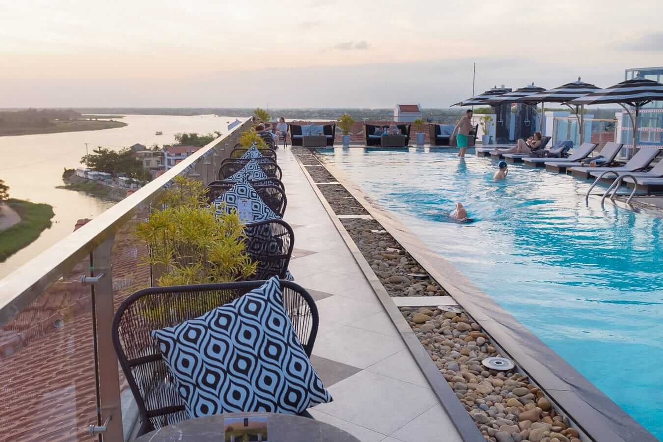 The Royal Hotel deck: Bars in Hoi An