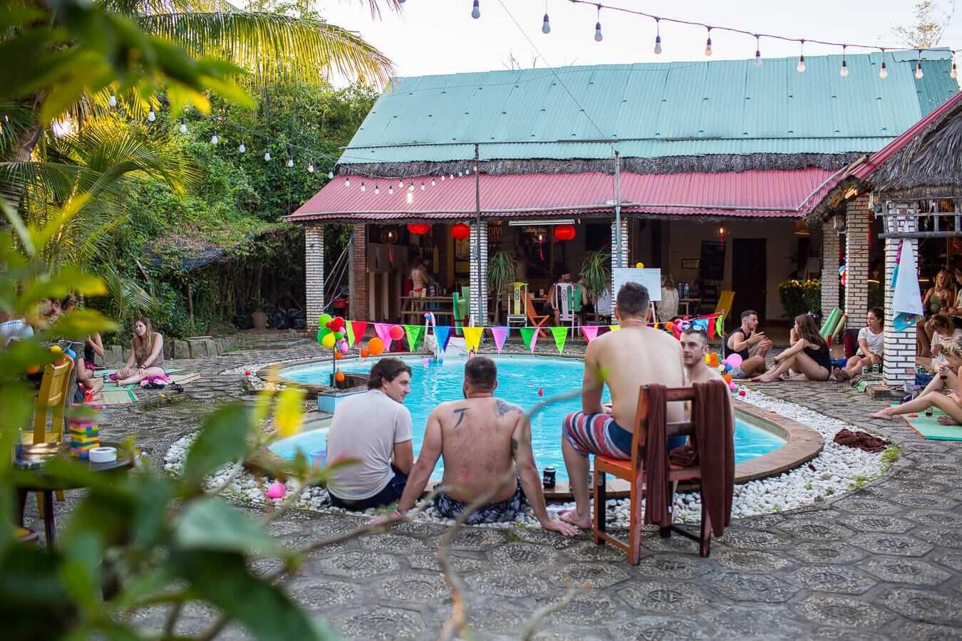 Tribee Ede Hostel's poolside: Best hostels in Hoi An