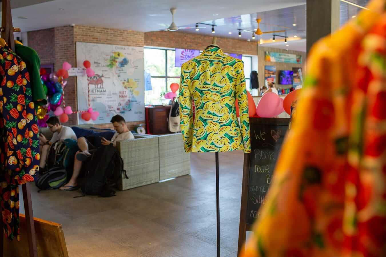 Vietnam Backpacker Hostel's in-house tailor