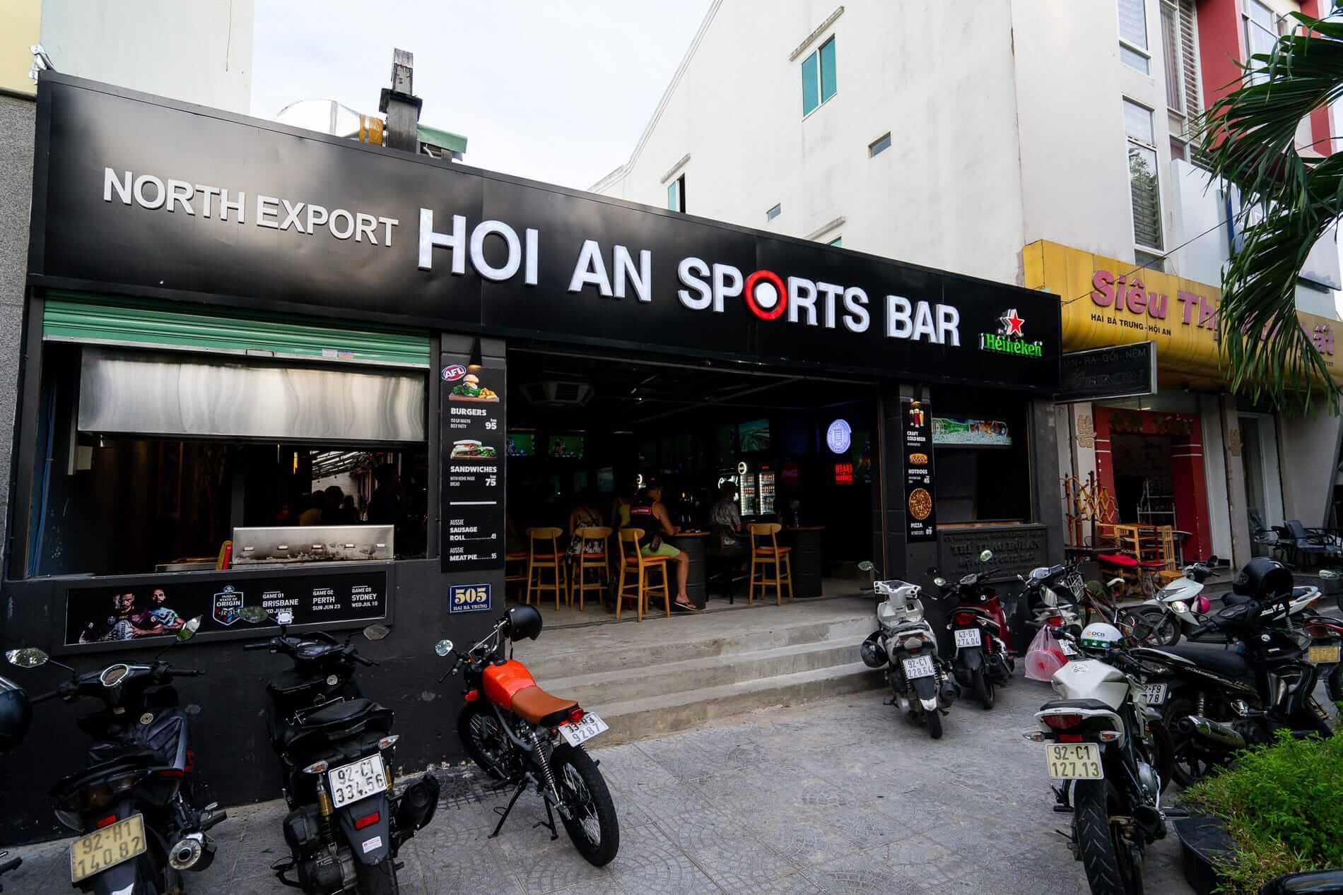 Outside the Hoi An sports Bar