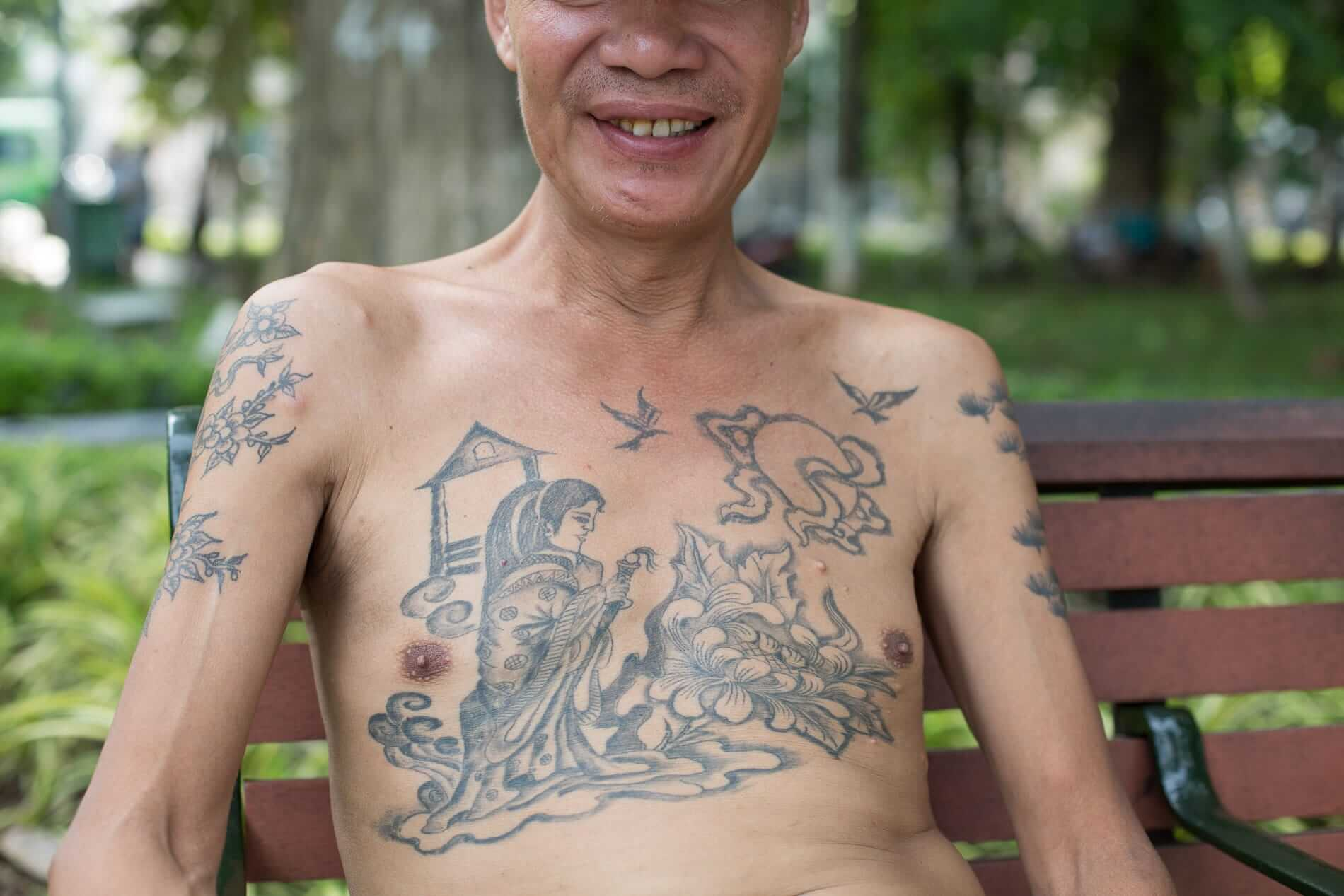 Old style chest tattoo: Tattoo and Piercing in Hoi An