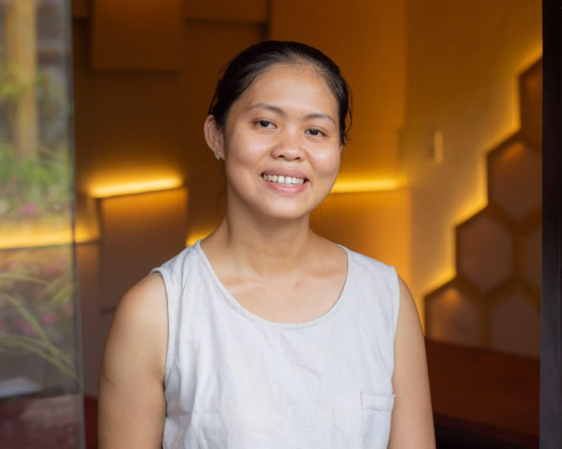 Portrait of Five Senses Spa owner Quyen