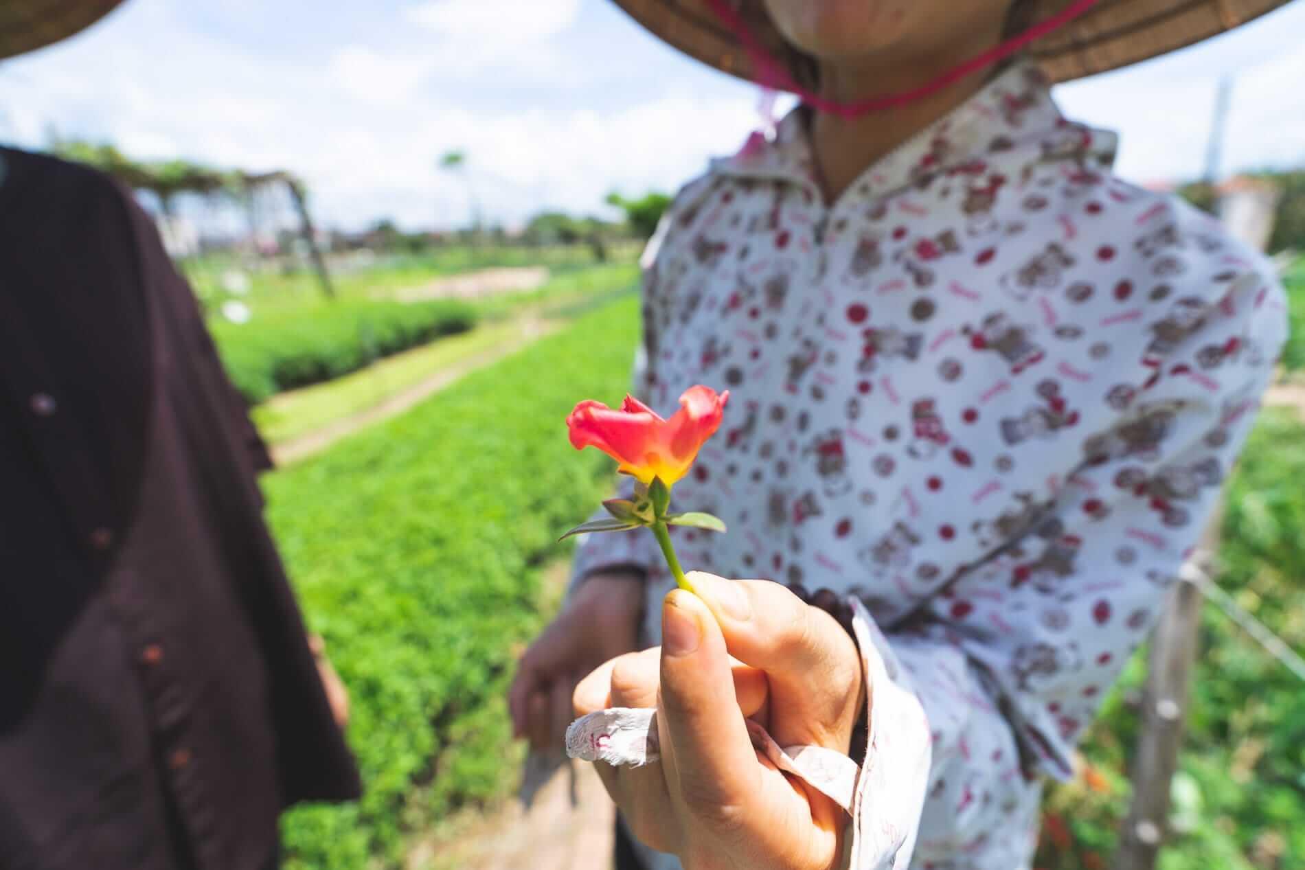 A farmer at Tra Que Village - Tra Que Vegetable Village